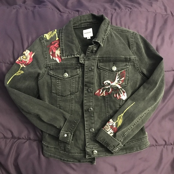 450fe931760 Kensie Jackets & Coats | Embroidered Denim Jacket | Poshmark
